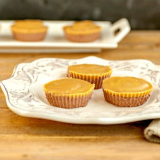 Chocolate Peanut Butter Mini Cheesecakes- grain free, no bake, low carb