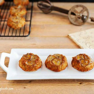 Cinnamon Caramel Banana Mini Cakes, grain free & paleo
