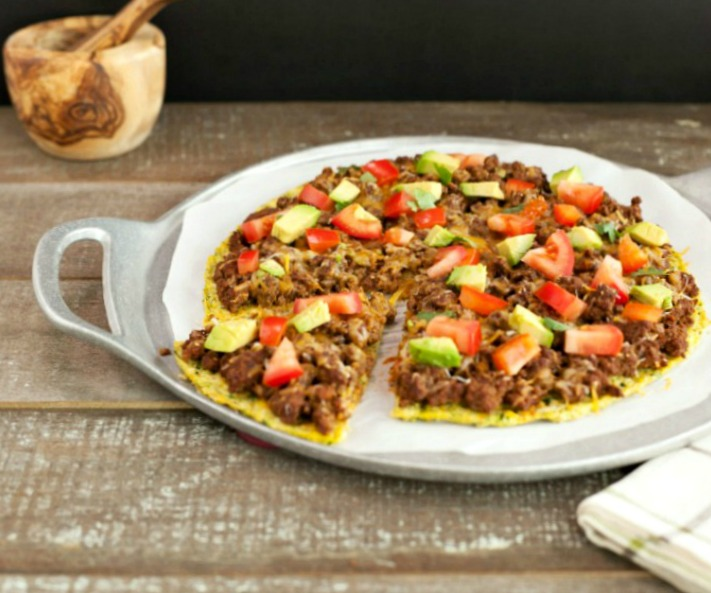 Low Carb Mexican Pizza- grain free, low carb and primal