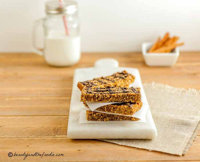 Easy Low Carb Granola Bars, grain free, low carb and paleo