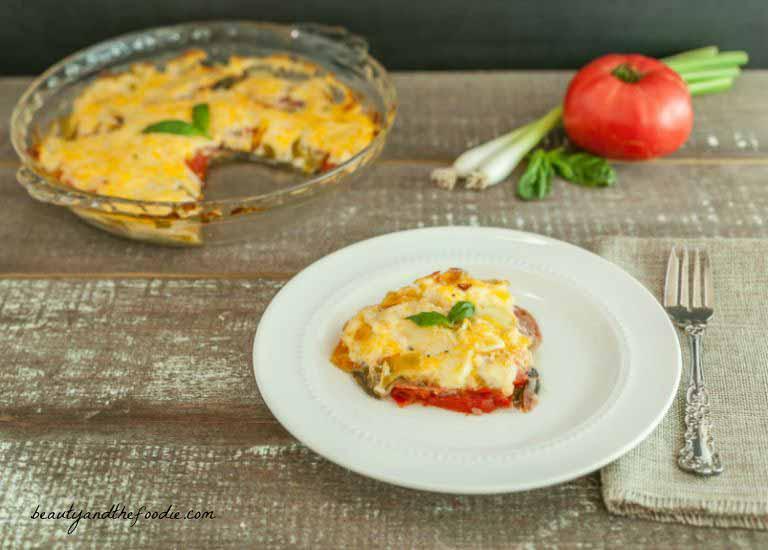 Antipasto Frittata Bake, grain free, low carb with paleo option