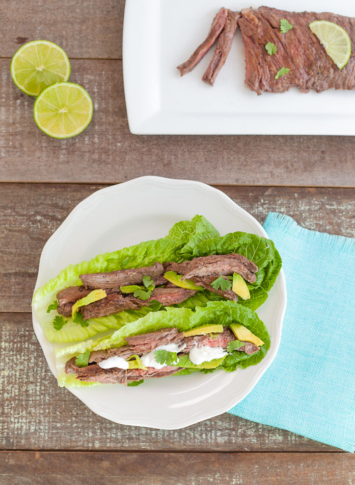 Easy Marinated Grilled Steak Tacos- keto, low carb & paleo