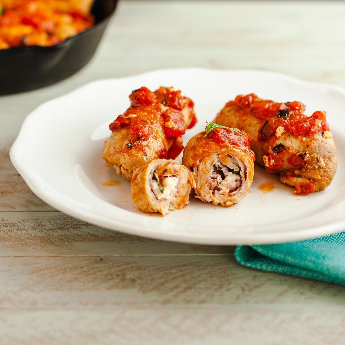 Low Carb Italian Pork Rollatinii