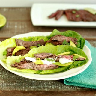 Easy Marinated Grilled Steak Tacos- Keto, low carb and simple .