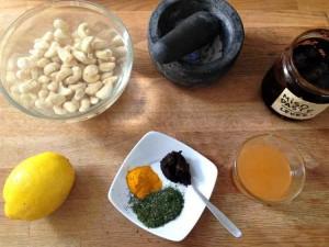 Probiotic Turmeric Dill Cashew Cheese