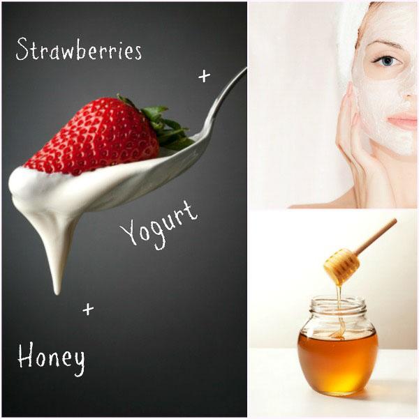 Homemade Natural Facial Masks- strawberry yogurt mask, and more.