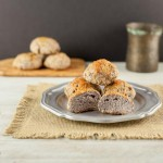 Grain Free Butter Top Dinner Rolls, A paleo, low carb dinner roll with a buttery top.