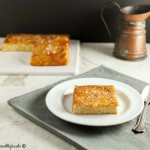 Paleo Pina Colada Upside Down Cake- A Grain free, tropical upside down cake.