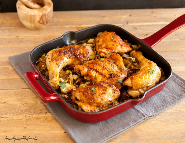 Chicken Bacon Cabbage Skillet Beauty And The Foodie