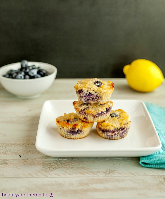 Glazed Lemon Berry Muffins, paleo, gluten free and low carb