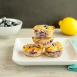 Glazed Lemon Berry Muffins- paleo, gluten free and low carb