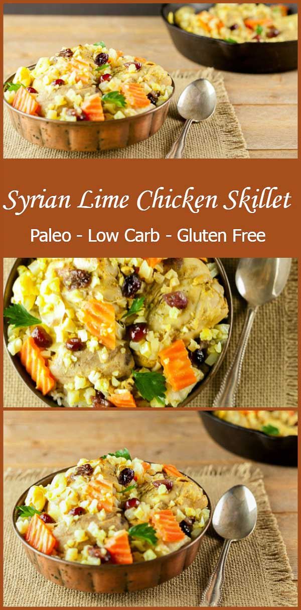 Syrian Lime Chicken Skillet. Paleo, low carb, keto and gluten free.