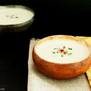 Creamy Artichoke Bacon Soup - Low carb, gluten free and primal