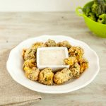 Oven Fried Breaded Broccoli Bites. Paleo, low carb and gluten free