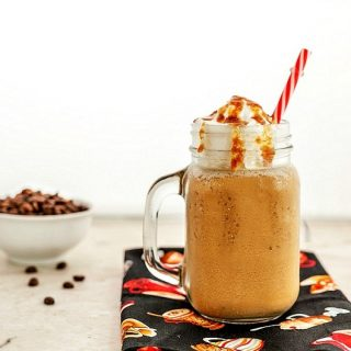 Vanilla Caramel Frappuccino- Low carb and paleo versions. A yummy, frosty, flavored coffee drink!