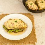 Malibu Dijon Chicken Asparagus Skillet- Low carb , Gluten Free and Primal. Savory and tasty!