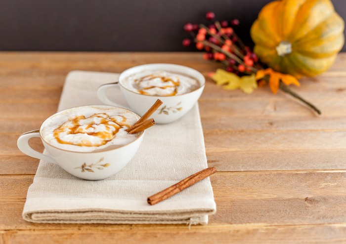 Pumpkin Caramel Latte low Carb and with Paleo version.