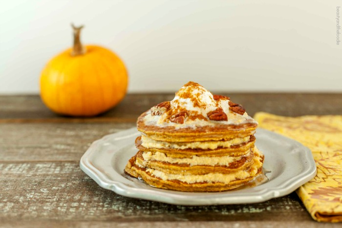 Pumpkin Cheesecake Pancakes, low carb and paleo