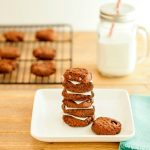 Double Chocolate Nut Butter Cookies -Low carb and paleo. Chocolate nut butter cooies with chocolate chips. Yum!