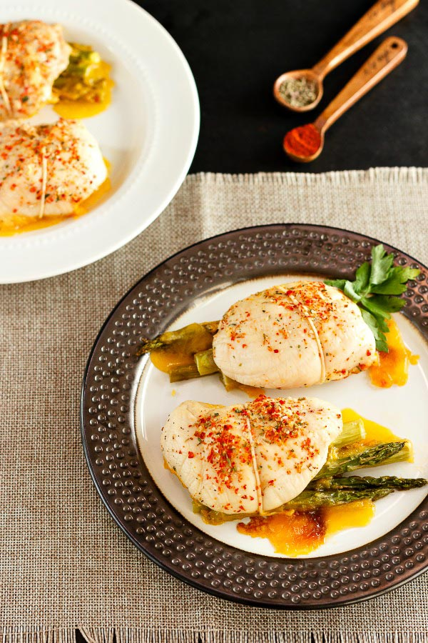 Cheddar Bacon Asparagus Chicken Rolls- Low carb, prmal and gluten free