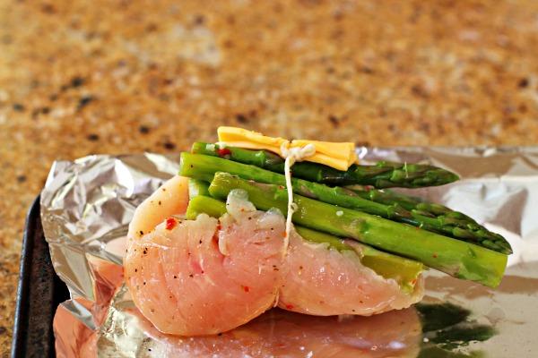 Cheddar Bacon Asparagus Chicken Rolls-prep 1