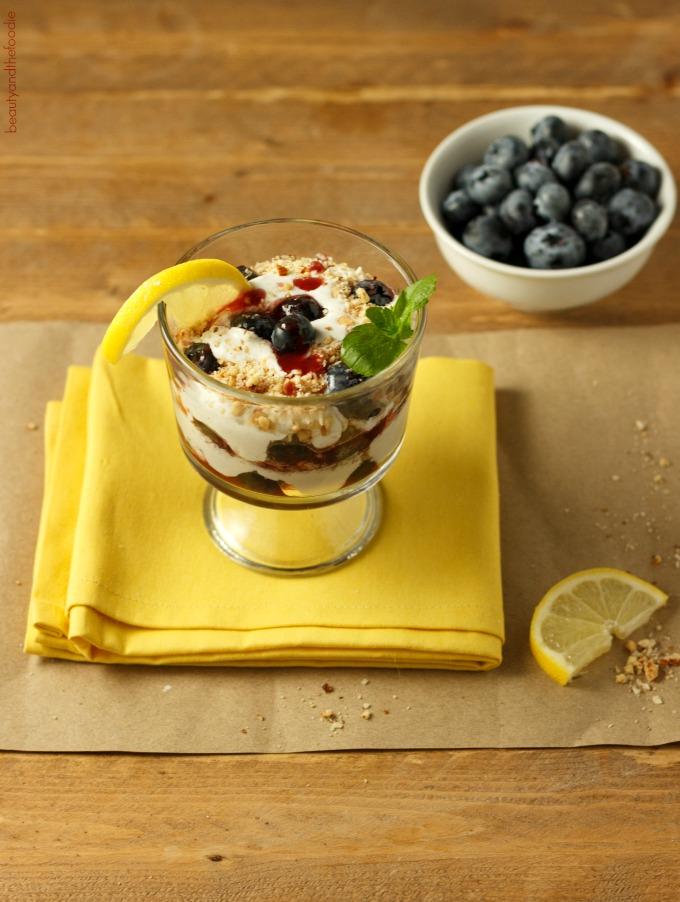 Easy Berry Lemon Cream Parfaits Low Carb, no bake, paleo, gluten free, and vegan dairy free option.