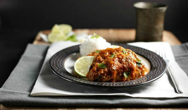 Slow Cooker Garlic Chipotle lime Chicken- Low Carb, paleo and so easy to make!