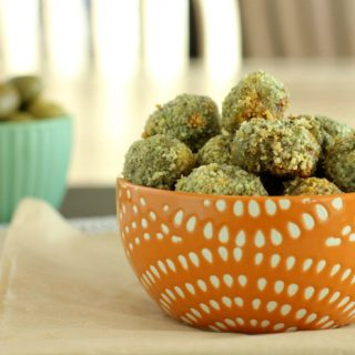 Oven Fried Stuffed Olives
