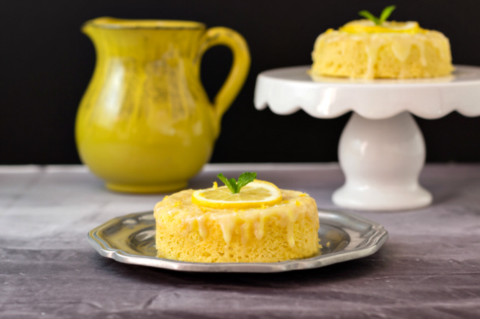3 Minute Lemon Poke Cake Low Carb & Paleo- A fast and simple tasty treat!