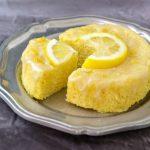 3 Minute Lemon Poke Cake Low Carb & Paleo.