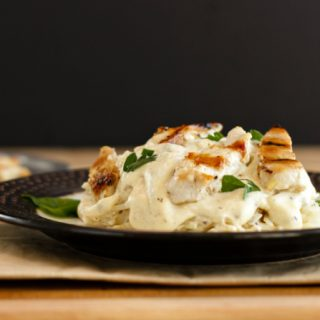 Grilled Chicken Alfredo Celeriac Noodles Low Carb