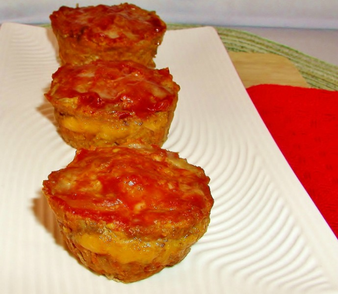 Grain free Cheese filled Mini Meatloaf, primal , low carb and paleo