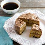 2 Minute Chocolate Chip Peanut Butter Mini Cake - Low carb, gluten free & paleo version