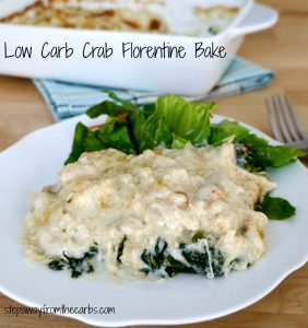 Low Carb Crab Florentine Bake