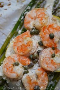 Lemony Mayonnaise Cod Shrimp Asparagus Bundles