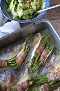 Roasted Sea Bass Tray Bake