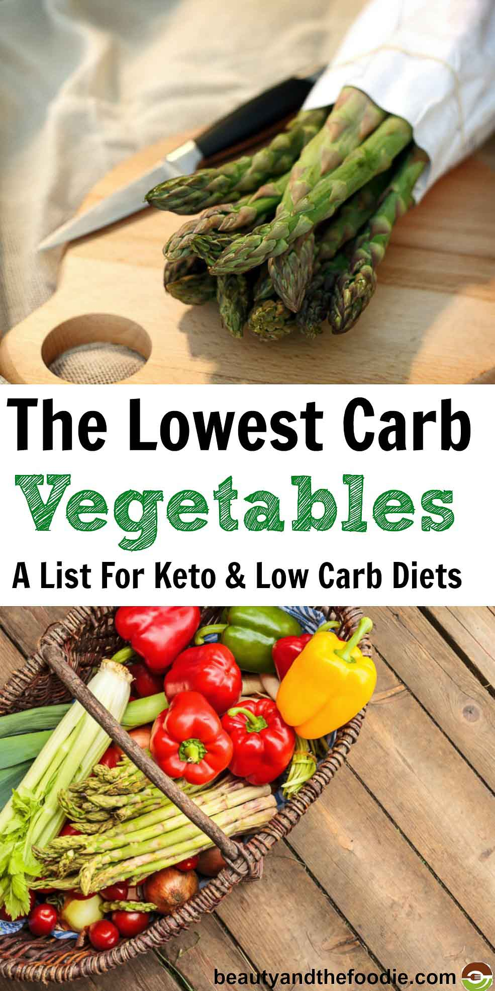 Best Lowest Carb Vegetables For Keto and low Carb Diets- Find out which are the lowest and the highest in carbs