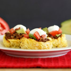 Spaghetti Squash Taco Nests- Low carb, gluten free and grain free
