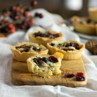 Savory Bacon Cranberry Cheese Tartlets