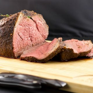 Easy Baked Sirloin Roast with Herb Rub- Low Carb, Keto, and Paleo. #sponsored