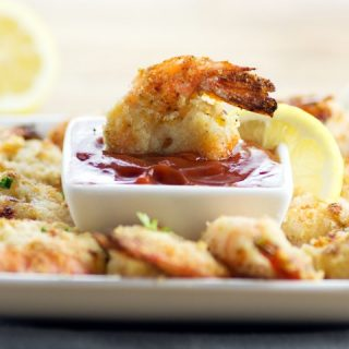 Oven Fried Garlic Parmesan Shrimp