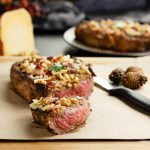 Bacon Cheese Walnut Crusted Steak- Low Carb, Keto and Grain free. #sponsored #steak #mahonmenorca