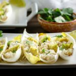 Shrimp Salsa Verde Salad Boats are paleo , low carb, shrimp salsa verde salad in endive boats.