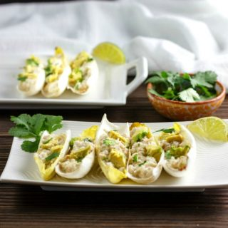 Shrimp Salsa Verde Salad Boats
