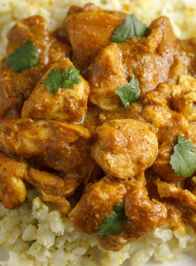 Keto Chicken Korma-Low Carb & Paleo