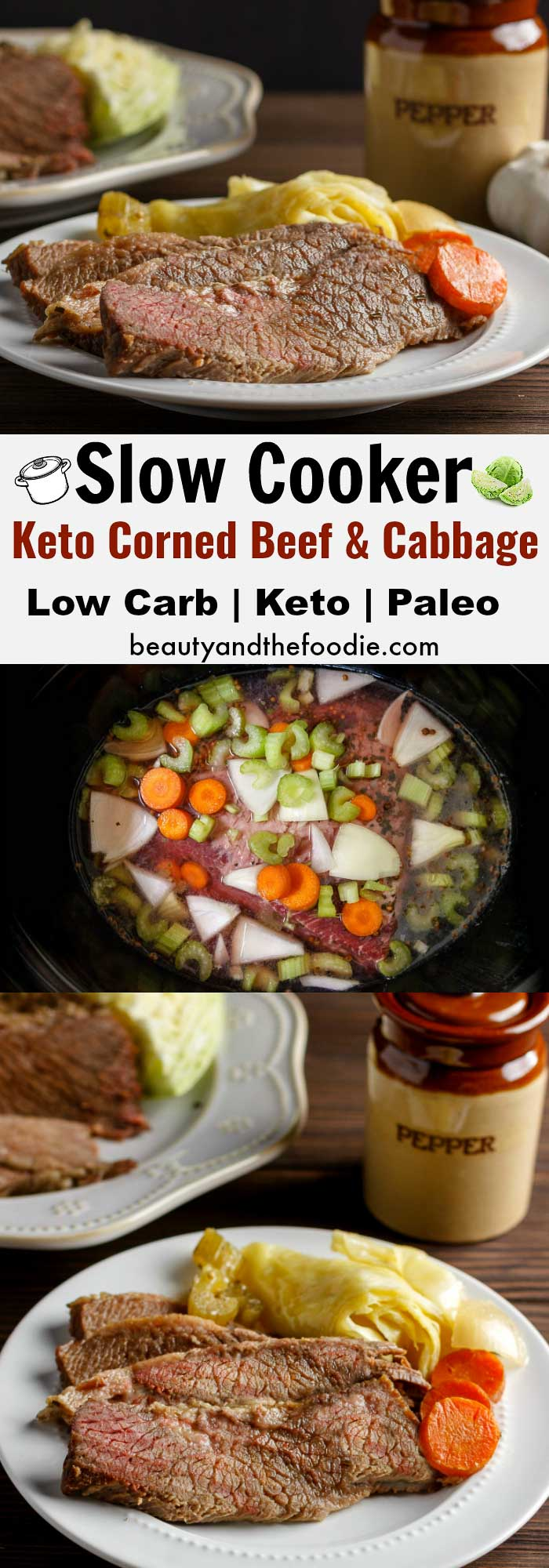 Slow Cooker Corned Beef Cabbage- low Carb & Paleo