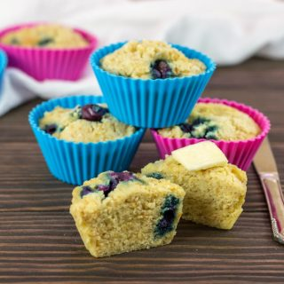 Keto Instant Pot Blueberry Muffins- Low Carb & Paleo