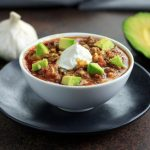 Keto Instant Pot Chunky Chili with Slow Cooker Option- low carb, paleo and whole 30 option.