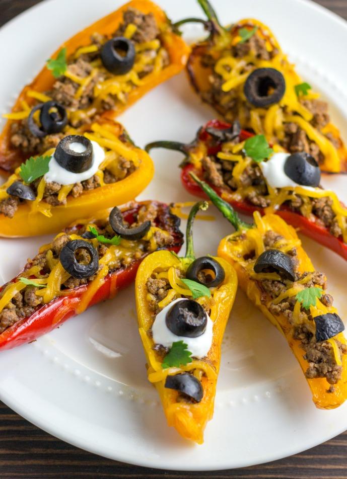 Keto Taco Stuffed Mini Peppers