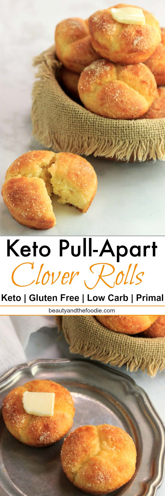 Keto Pull Apart Clover Rolls | Beauty and the Foodie